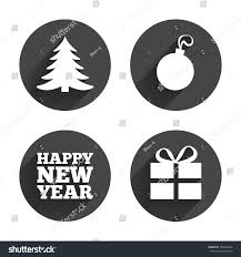 happy new year icon christmas tree stock vector 298260446