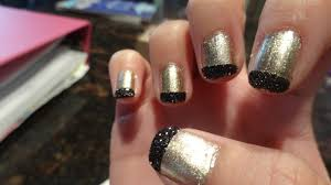 domesticated diva diy chic holla ween nails black and gold
