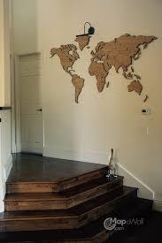 oak wooden world map in the spotlight woodenworldmap
