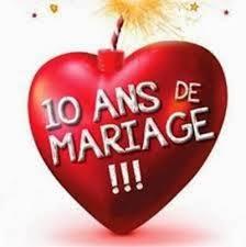 anniversaire mariage 10 ans carte anniversaire de mariage 10 ans