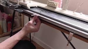 machine knitting tutorial needle holding youtube