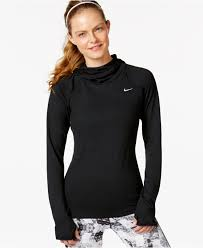 nike element dri fit pullover hoodie in black lyst