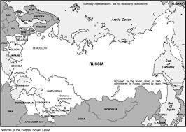 former soviet union map the former soviet union russia kazakstan and belarus