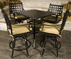Bar Height Patio Set With Swivel Chairs Perfect Bar Height Patio Dining Set Patio Dining Sets On Patio