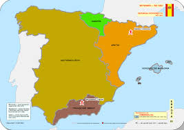 A Map Of Spain by File Historical Map Of Spain Ad 1200 1300 1262 Svg Wikimedia