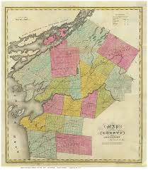 Map Of New York Counties 1829 Burr Map Of The County Of Clinton Ny