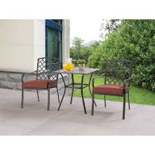 Mainstays Crossman 7 Piece Patio Dining Set Green Seats 6 - mainstays spring creek 3 piece outdoor bistro set seats 2
