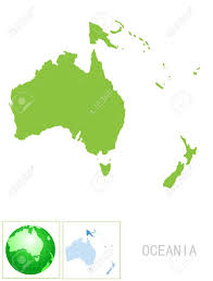 Oceania Map Oceania Map And Icon Royalty Free Cliparts Vectors And Stock