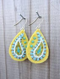 felt earrings 54 best jewellery to make felt earrings images on
