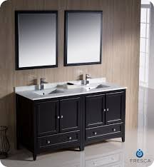 fresca oxford 60 double sink bathroom vanity espresso finish for