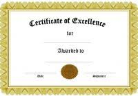 certificate of excellence for employee template professional and