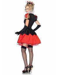 halloween costume queen of hearts 3 pcs poker red queen of hearts halloween costumes womens carnival
