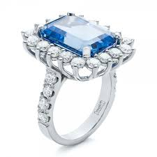 beautiful diamonds rings images Custom blue spinel and diamond ring 102126 jpg
