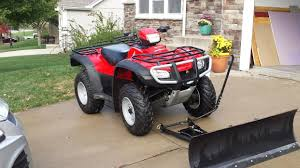 honda foreman 4x4 snow plow motorcycles for sale