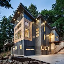 metal building homes in exterior contemporary with bridge accent