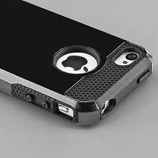 hybrid shockproof hard rugged heavy duty cover case for apple