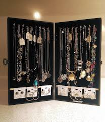 necklace display case images Portable jewelry display cases for necklaces and earrings travel jpg