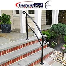 Handrail For Two Steps Diy Iron X Handrail Picket 3 Fits 3 Or 4 Steps Amazon Com