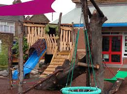 Treehouse Muswell Hill Landscaping Outdoor Classroom Sand And Water Climbing Balancing