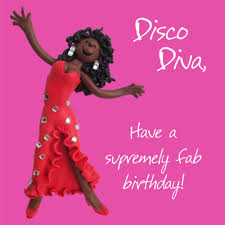 disco diva happy birthday card one lump or two cards love kates
