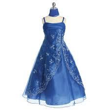 amazon com girls royal blue beaded sleeveless pageant flower