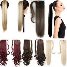 ponytail extension pony hair extensions ebay