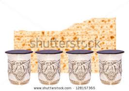 passover 4 cups half broken matzah 4 shiny stock photo 128157365