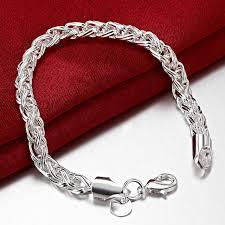 chain bracelet sterling silver images Lostpiece fashion men 39 s 925 sterling silver bracelets wheat chain jpg