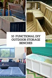 Diy Backyard Storage Bench 10 smart diy outdoor storage benches shelterness