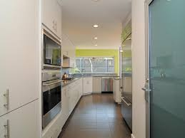 Kitchen Ideas With Black Appliances by Kitchen White Galley Kitchen With Black Appliances Breakfast