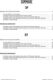 bep cuisine candidat libre résultats définitifs de la session 2014 du cap et du bep pdf
