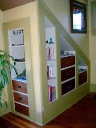Unfinished Basement Storage Ideas Basement Toy Storage Pictures The Stairs To This Finished