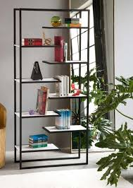 Corian Shelf Minimalist Steel Bookcases With Corian Or Bamboo Shelves By
