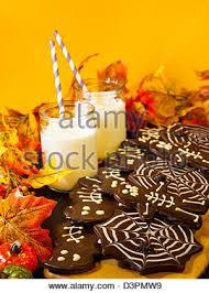 Decorated Gourmet Cookies Halloween Gourmet Cookies With Holiday Decor Orange Background