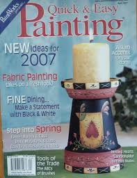 home decor trade magazines paintworks quick easy painting magazine april 2007 assorted
