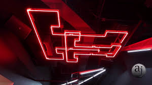 texas tech neon light texas tech football training facility locker room tour youtube