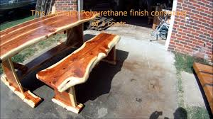 Cedar Table Top by Red Cedar Log Dining Table Youtube
