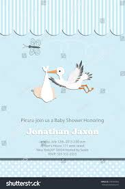 baby boy baby shower invitation butterfly stock vector 349769483