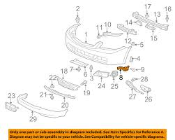 nissan rogue front bumper 71193sea003 acura 04 08 tsx front bumper spacer right