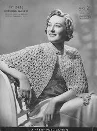 bed jacket and bedwear vintage knitting patterns from the vintage