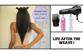 Washing Hair After Coloring Red - natural hair after the weave wash blow dry length check