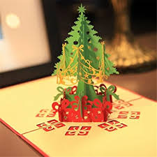 mexud merry tree 3d pop up paper handmade