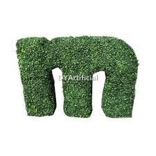 Elephant Topiary Outdoor Uv Protection Artificial Boxwood Topiary Letter Dongyi