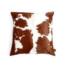 Cowhide Pillows Cowhide Cushions Brown And White Zulucow