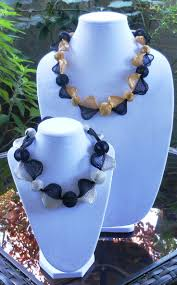 15 best bead necklace soft ribbon images on pinterest beaded