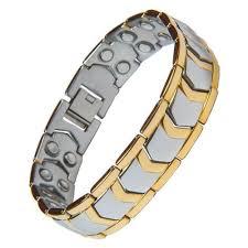 magnetic gold bracelet images Gold and silver jewellery golden magnetic bracelet for men rs 270 jpg