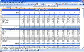 Expense Tracker Template For Excel Rp Household Expenses 3 Jpg Office Household
