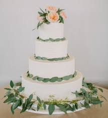 wedding cake greenery studiowed nashville soft fresh greenery