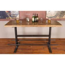 Reclaimed Wood Bar Table Reclaimed Wood Pub Table Wayfair