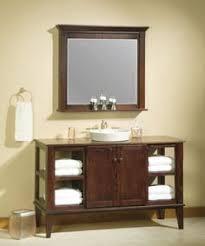 Open Vanity Bathroom with Bathroom Cabinets Open Shelving Interior Design